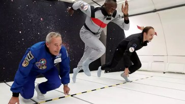 """Usain Bolt ran in """"zero gravity"""": do you know how that is achieved"""