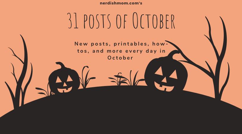 31 posts of october - advertising the 31 halloween homeschool ideas