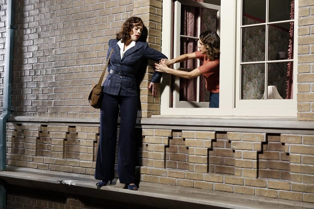 Agent Carter on Window Ledge