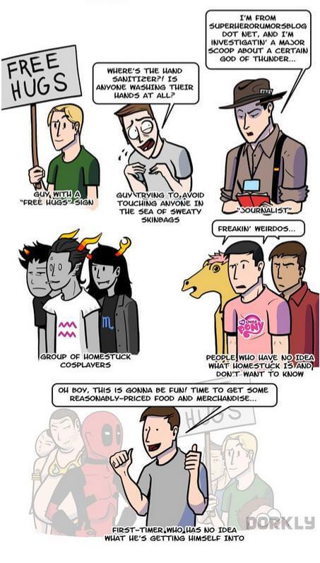Nerds auf Conventions