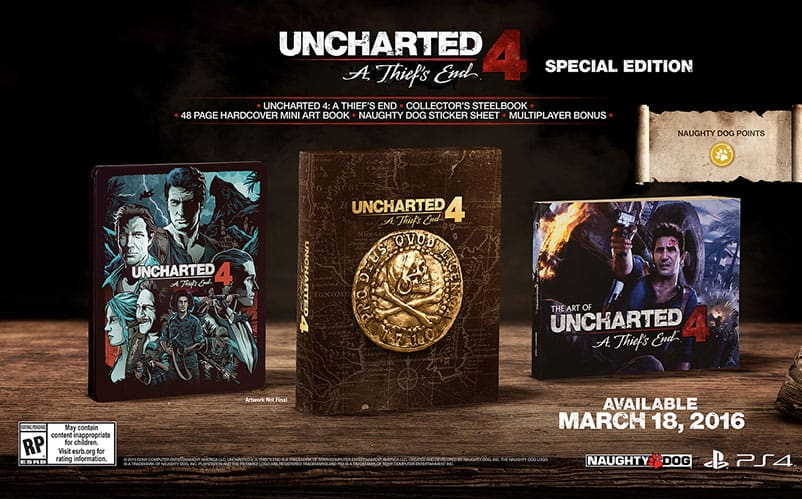 Uncharted 4 Release Date Collectors Edition Announced