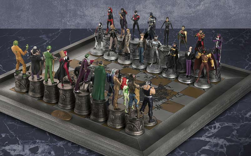 DC Comics Complete Batman Chess Set Heroes Vs Villains