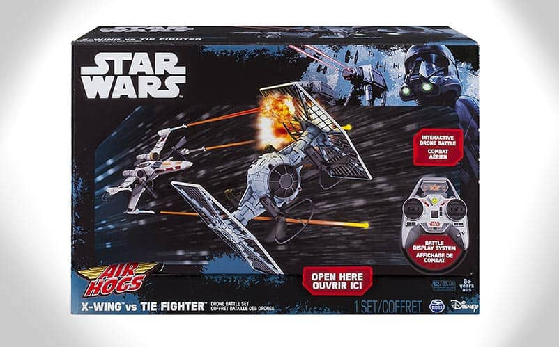 Air Hogs Star Wars X Wing Vs TIE Fighter Drone Battle Set