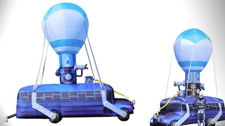 Fortnite Battle Bus Inflatable 175 Feet Tall Nerd Much