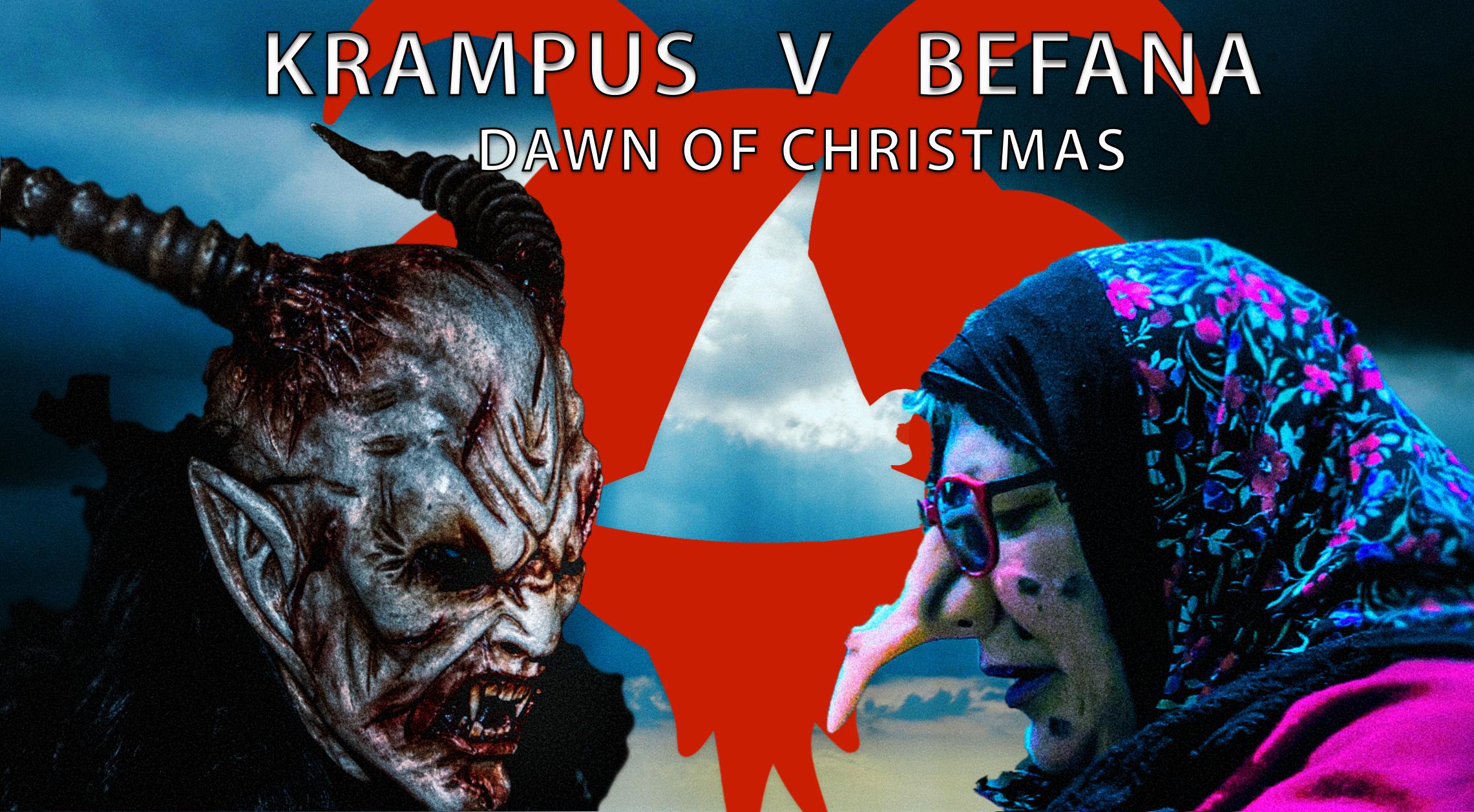 Krampus v Befana fake movie banner