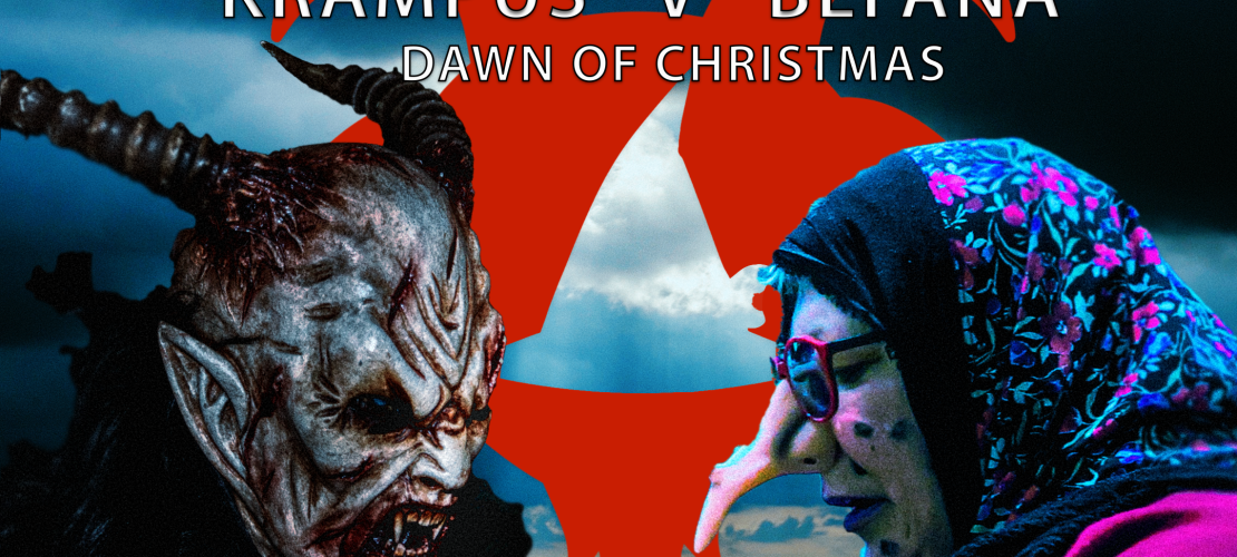Krampus v Befana fake movie banner