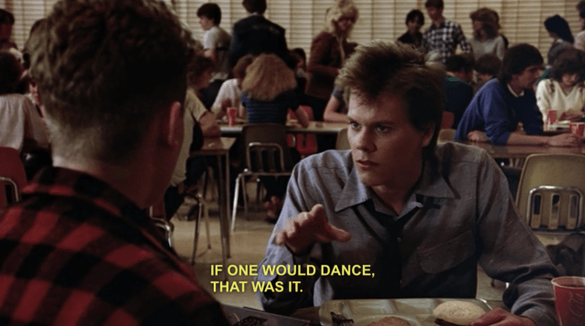 """The full line is: """"If we could get one of them to dance - just one of them - then that was it. We'd get out on the floor and we'd really start to smoke."""" Netflix limited the dialogue to: """"If one would dance, that was it. We'd really start to smoke."""" It takes away the full effect of Ren's embellishment and storytelling. It also removes the context of what """"We'd really start to smoke"""" means."""