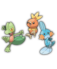 Which one will you choose: Treecko, Torchic, or Mudkip? [PokeCharms]