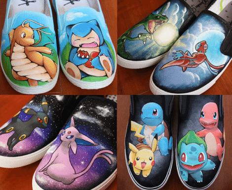 Pokémon Inspired Shoes [Etsy]