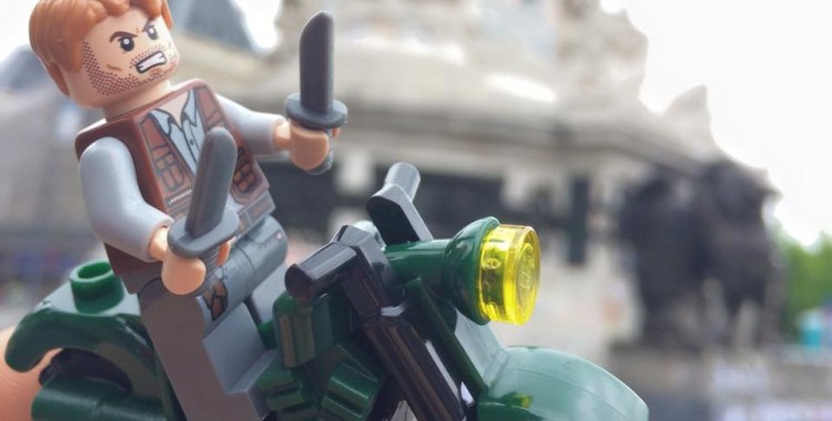 EVERYTHING IS AWESOME: Chris Pratt Tours Europe With LEGO Raptors in Tow