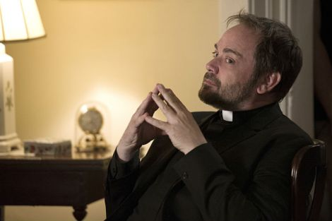 The idea of Crowley as a priest is so very disturbing [Source: Carole Segal/The CW]