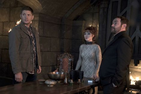 Rowena is out of luck now that Dean and Crowley have a witchcatcher (Source: Katie Yu/The CW)