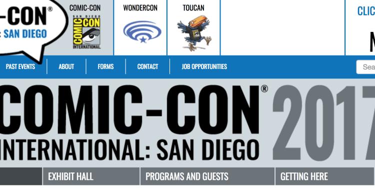 Prepare for SDCC Returning Registration 2017!