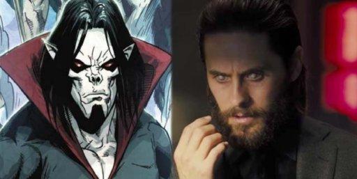 jared leto come morbius nel film spin-off marvel, nemico di spider-man