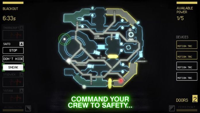 Alien Blackout mappa game mobile