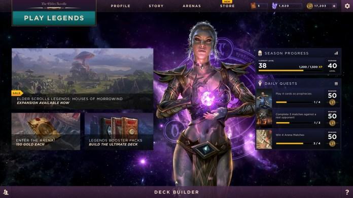 the elder scrolls legends menu gioco espansione