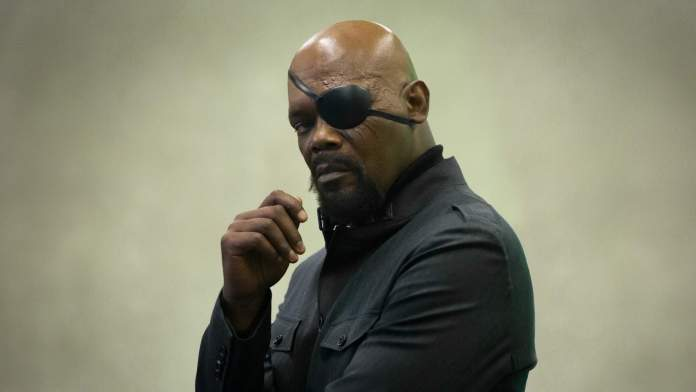 Captain Marvel Nick Fury Jackson Marvel Cinematic Universe