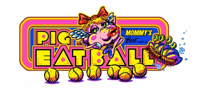 Pig Eat Ball pacman logo tennis