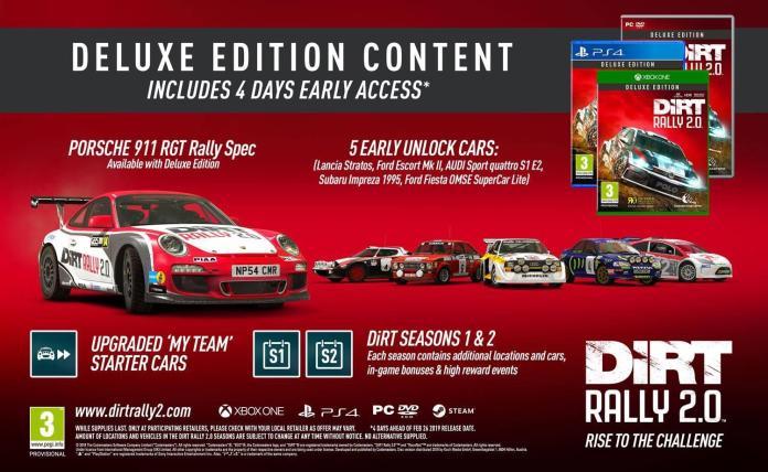 dirta rally 2.0 deluxe edition edizione pre-order data contenuti