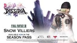 DISSIDIA: Final Fantasy NT - Snow Villiers ora disponibile