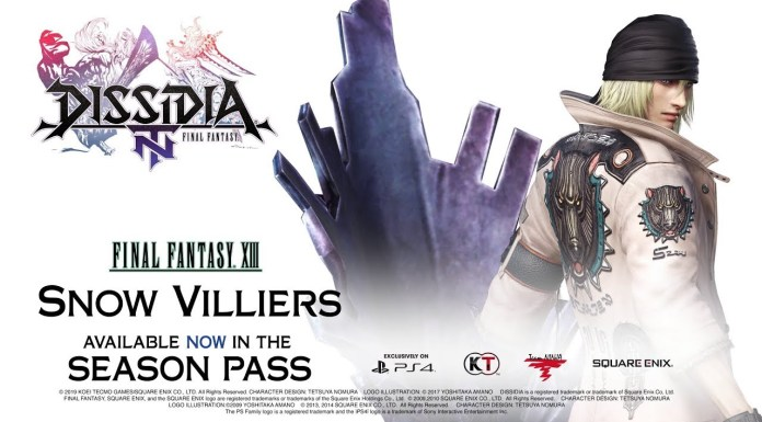 DISSIDIA: Final Fantasy NT Snow Villiers