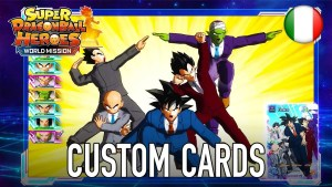 Super Dragon Ball Heroes World Mission e le custom cards