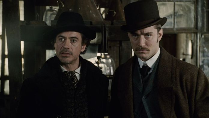 Warner Bros film - Sherlock Holmes 3 - Robert Downey Jr. e Jude Law