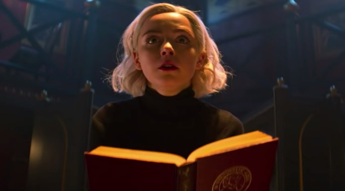 le terrificanti avventure di sabrina netflix poster seconda stagione stile game of thrones