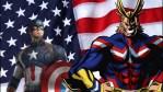 My Hero Academia, confronto tra All Might e Captain America