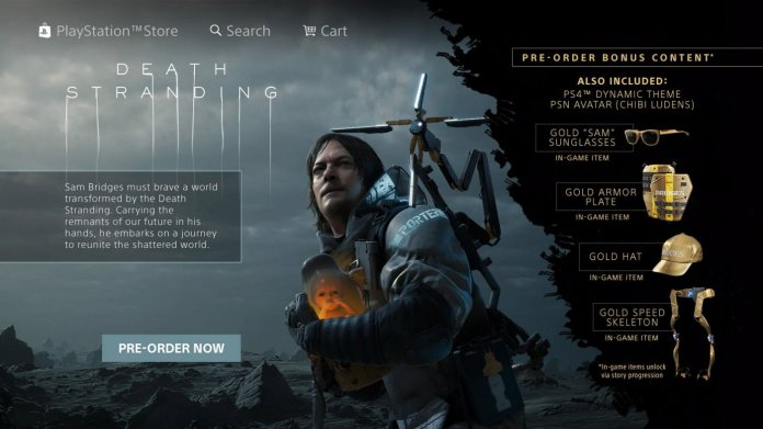 Death Stranding PlayStation Store Preordine