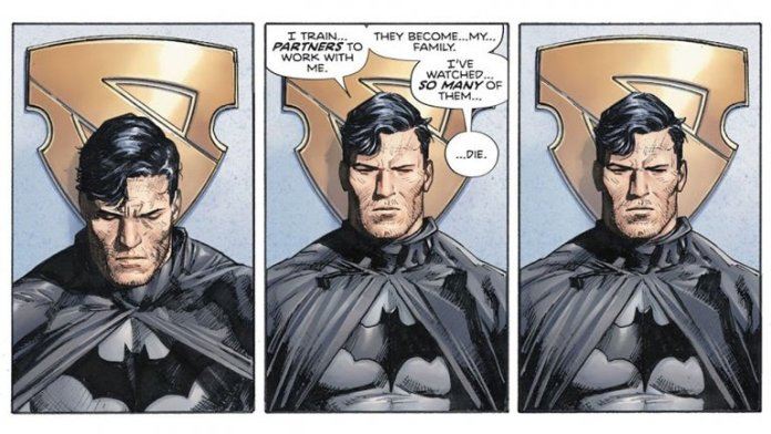 Batman in Eroi in Crisi di Tom King