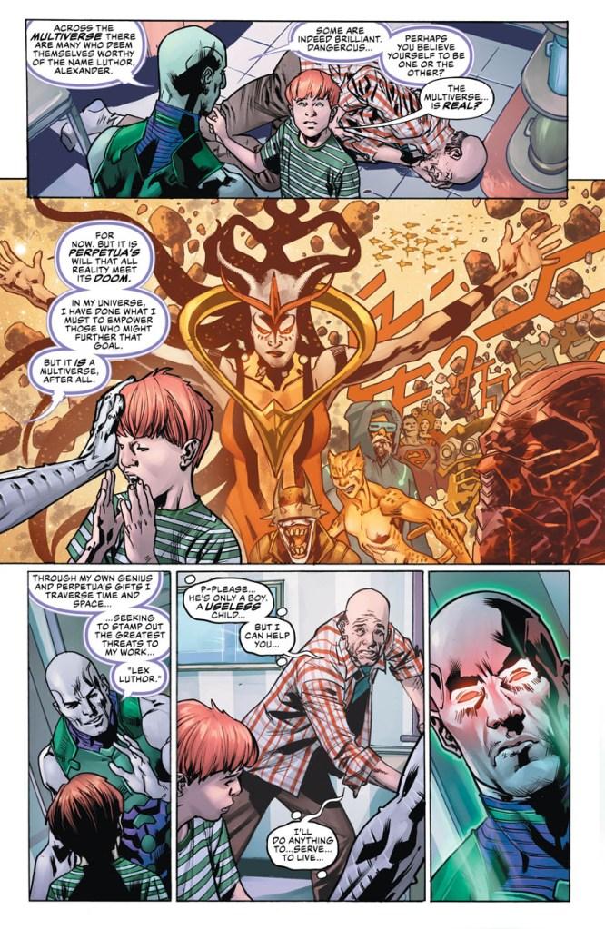Apex Lex Luthor anno del cattivo year of the villain DC Comics Perpetua