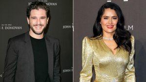 Gli Eterni: Kit Harington con il nuovo look assieme alla co-star Salma Hayek