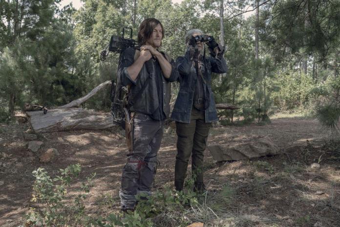 Melissa McBride (Carol Peletier), Norman Reedus (Daryl Dixon) - Photo Credit: Jace Downs/AMC