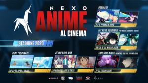 Anime al Cinema: Nexo Digital presenta il calendario 2020