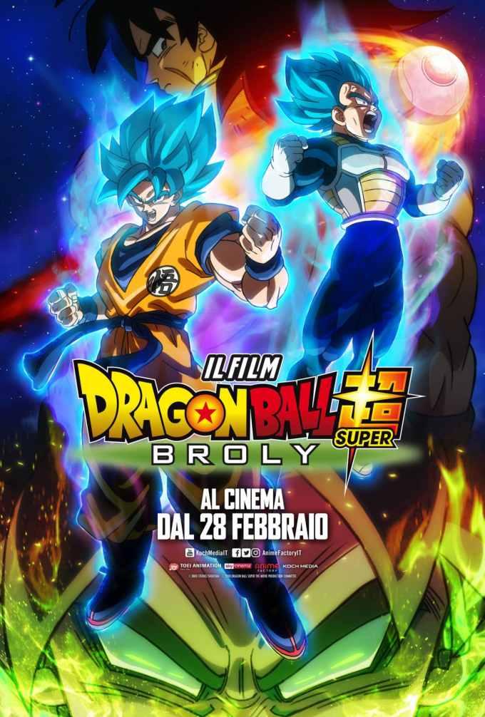 Dragon Ball Super: Broly - Il film dal 28 febbraio al cinema! Cinema Cinema & TV News