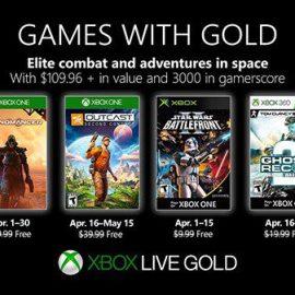 Annunciati i giochi del mese di Aprile 2019 di Games With Gold