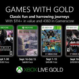 Ecco i giochi del Games With Gold di Settembre 2019