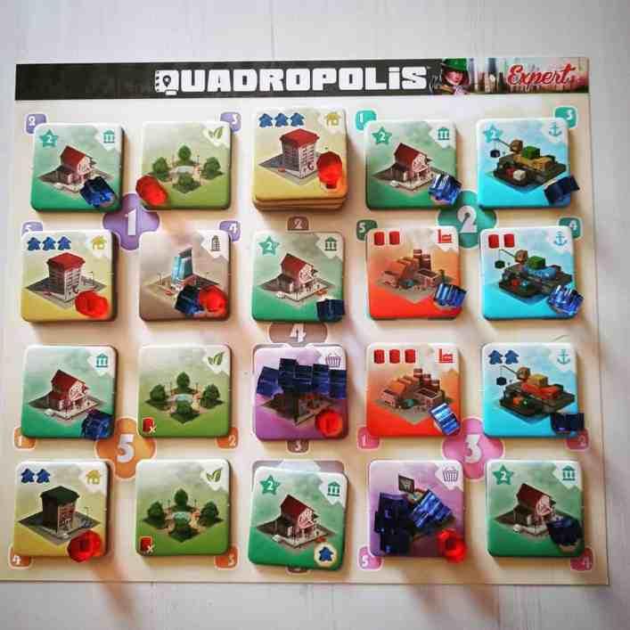 Plancia giocatore completa Quadropolis