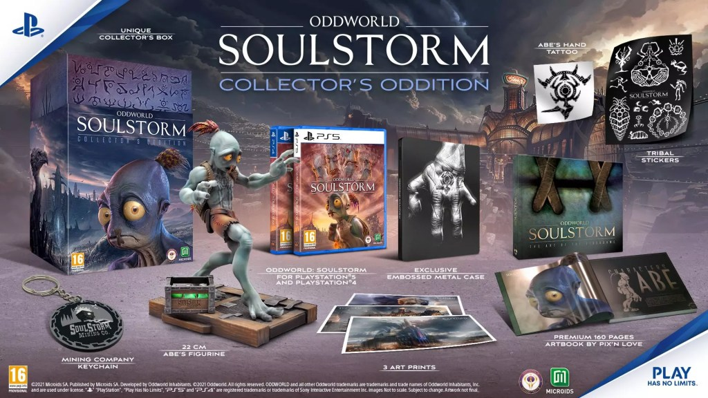 Microids e Oddworld Inhabitants presentano la retail edition di Oddworld: Soulstorm Comunicati Stampa PS4 PS5 Videogames