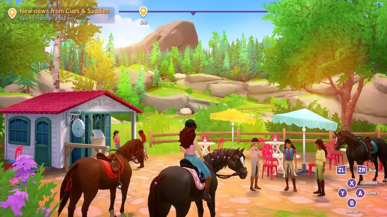 La famosa linea di giocattoli Horse Club Schleich in un videogame