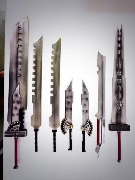 Sword layouts