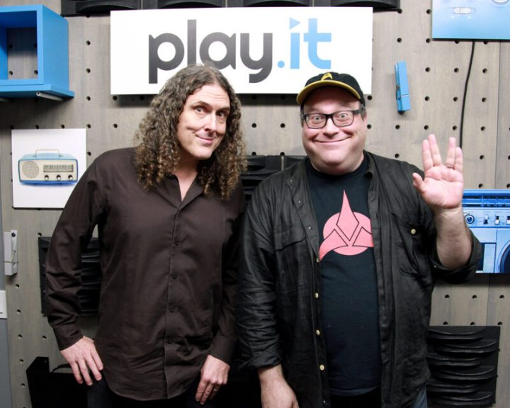 """Weird Al"" seen here with host Jordan Hoffman"