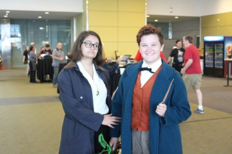 Alison and Logan as Tina Goldstein and Newt Scamander.