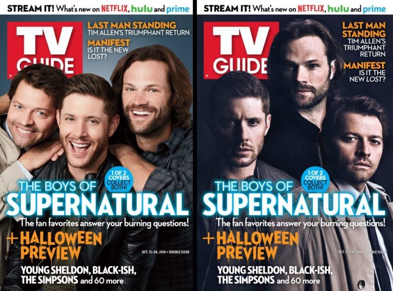 Supernatural Tv Guide Magazine Covers To Hit Newsstands Thursday