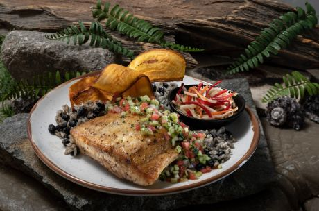 Jurassic Cafe Roasted Red Snapper. Image courtesy of Universal Studios Hollywood.