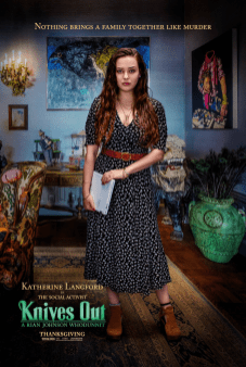 Katherine Langford as Meg Thrombey. Image courtesy of 'Knives Out'