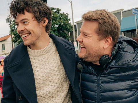 Harry Styles Appears On Crosswalk The Musical With James Corden Nerds And Beyond