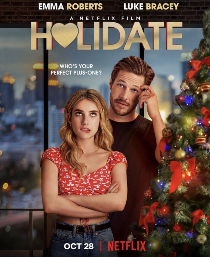 Emma Roberts And Luke Bracey Find Their Unexpected Holidate In New Netflix Trailer Nerds And Beyond