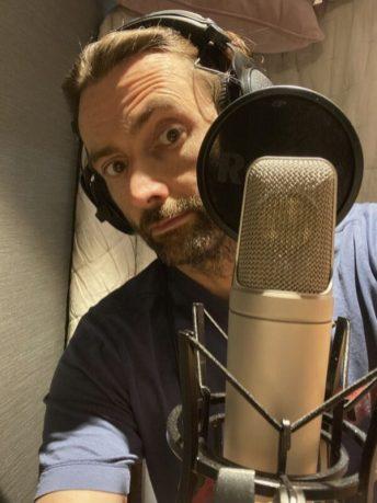 David Tennant recording at home. Courtesy of Big Finish